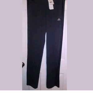 Adidas Womens T10 Pants Grey/Black Stripe Size L